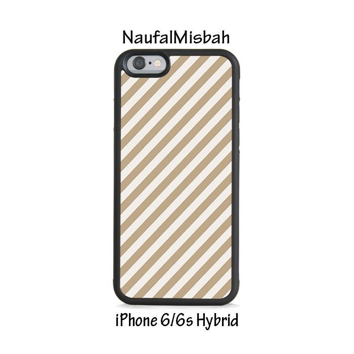 Brown Stripes iPhone 6/6s HYBRID Case Cover