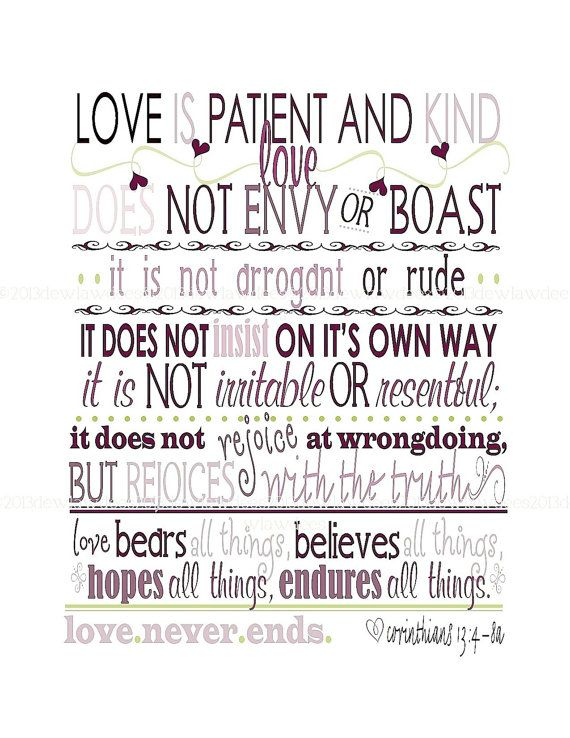 Corinthians 606060a Quote Love Is Patient And Kind 60x60 Custom Love Is Quote From Bible
