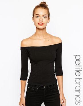 New Look Petite 1/2 Sleeve Bardot Top