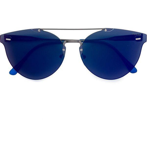 Retrosuperfuture Tuttolente Giaguaro Infrared aviator sunglasses (960 MYR) ❤ liked on Polyvore featuring accessories, eyewear, sunglasses, blue, unisex sunglasses, retrosuperfuture glasses, blue aviator sunglasses, retrosuperfuture and acetate sunglasses