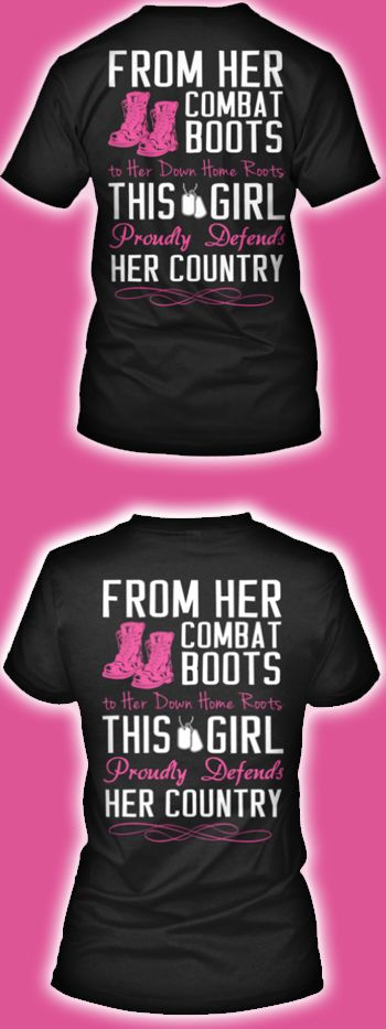 Do you serve or have you served in the Military? Show your pride with this great women's military design!