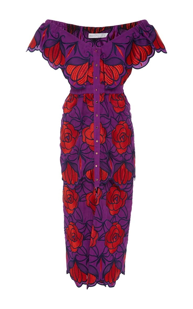 Tutti Frutti Violet Floral Dress by ALICE MCCALL Now Available on Moda Operandi