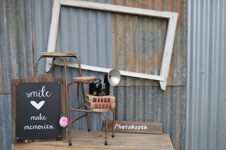 Beautiful rustic, vintage, shabby chic style photo booth frames and display for hire. Perfect for weddings, birthdays Sydney