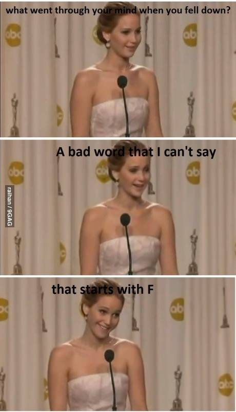 Jennifer Lawrence...'nuff said!