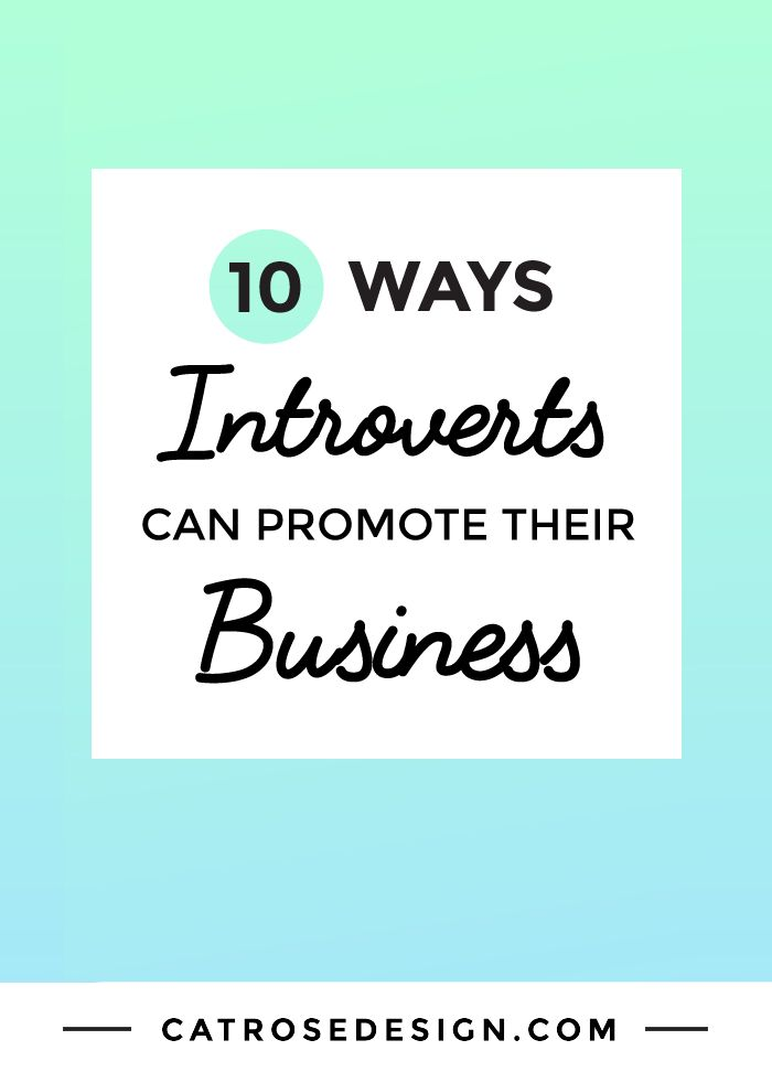 10 Ways Introverts Can Promote Their Business - Click through to get the checklist: