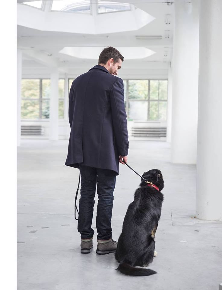 "We do care about animals! And so does Szymon Szcześniak. The new issue of Esquire Polska with Marcin Dorociński. Great shooting in favour of shelter ""Na Paluchu"".  Doglover Dog"