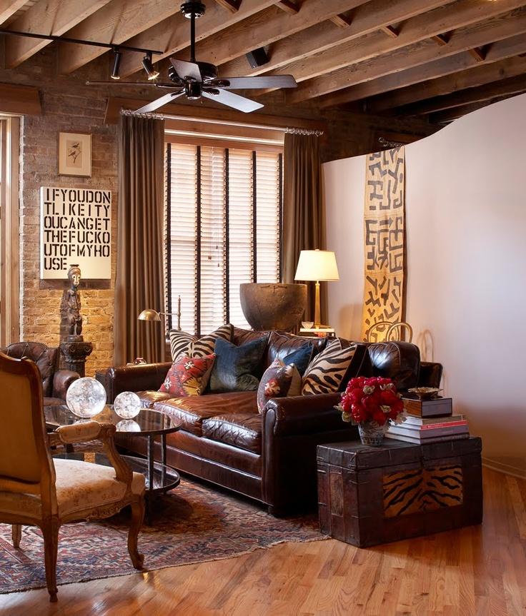VINTAGE & CHIC: decoración vintage para tu casa [] vintage home decor: De cuero y con historia [] Made of leather.
