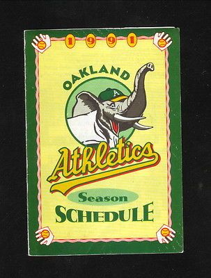 1991 Oakland Athletics Schedule--BART