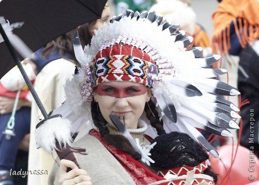 Гардероб День защиты детей Новый год Костюм Индейца с индейским головным убором - роучем Бумага Клей Нитки Ткань