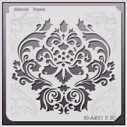 "Amazon.com: iStencils Repeat Wall Stencil 93-A4011 R 11 X 11"": Home Improvement"