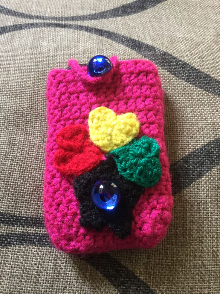 Cellphone cover - gift to my helper in Ghana (hence the colors of the Ghana Flag)