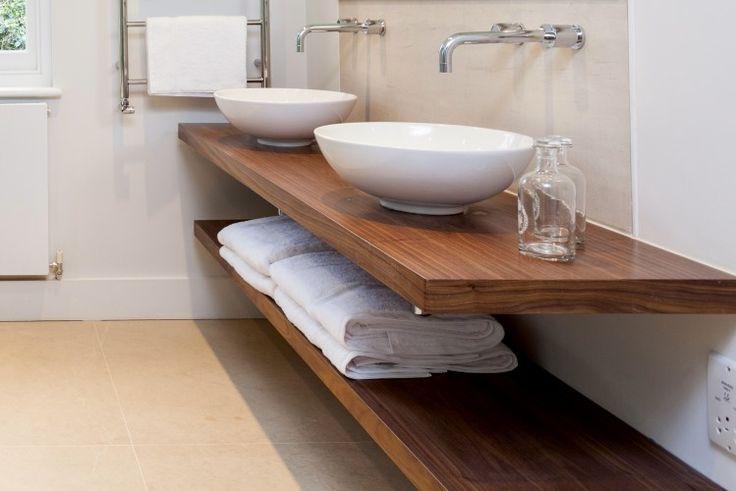 Bathroom sink countertop steps of manual handling