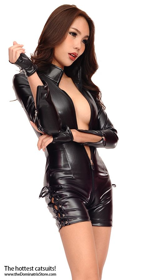 Hot Mistress in her leather catsuit | Asian in 2019 ...