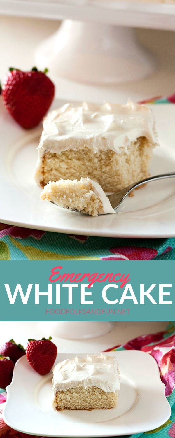 This Emergency White Cake recipe is just the thing when you get a hankering for cake and need it fast! It's a simple from-scratch recipe with all…