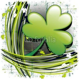St Patrick's Day Shamrock on Grunge Background