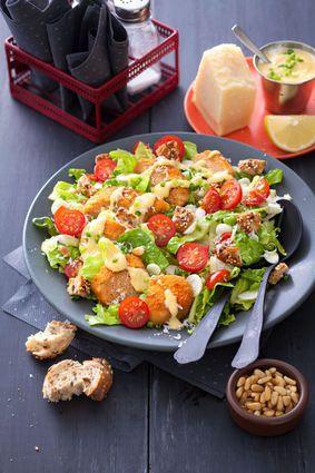 Salade caesar végétarienne