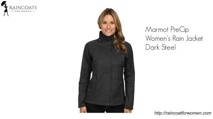 Marmot PreCip Women's Rain Jacket Dark Steel