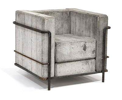 Concrete Le Corbusier by Stefan Zwicky.Concrete Chairs, Le Corbusier, Lecorbusier, Corbusier Chairs, Stefan Zwicky, Armchairs, Cement, Furniture, Design