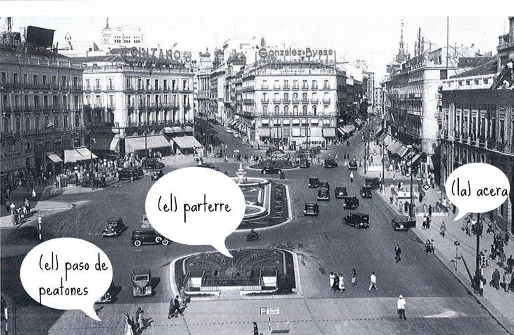 La Puerta del Sol en los años 50.