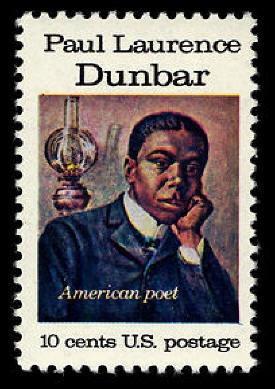 African American poet Paul Laurence Dunbar shown on US postage stamp