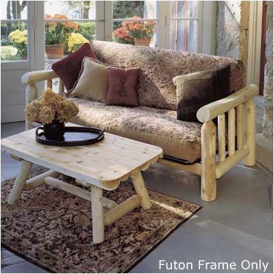 Rustic Cedar Log Futon Frame Color: Clear Coat