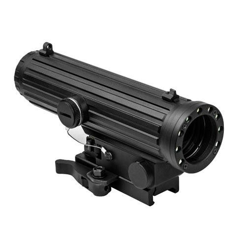 Lio 4X34 Scope-Red & White LED Nav Lights. Lio 4X34 Scope/Red & White LED Nav LightsManufacture ID: VHLO434GBLIO Scope - 4 X 34mm with NAV LED LightsFeatures:- Scope  4X magnification, 34mm Objective Lens- Integrated 2 Color LED Navigation Lights in the Objective Housing: Red X 2 each & White X 7 each LED Lights. Four different selectable NAV LED Light Modes.- Electronic Control Panel for Blue Reticle Illumination and NAV LED Light: On/Off and LED Light Modes- Blue Illuminated...