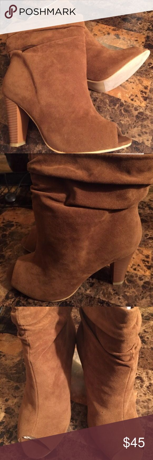 Brown Suede slouch booties, size 10. Brown suede slouch booties, brand new never worn. Shoes Ankle Boots & Booties