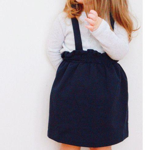suspender skirt blue