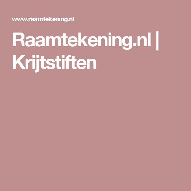Raamtekening.nl | Krijtstiften