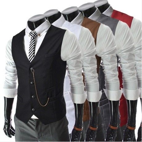New British Gentleman Men Slim Vest Men's 2016 Fashion Waistcoat Business Suit Vest Men Gilet Fashion Waistcoats Plus Size //Price: $31.67 & FREE Shipping //     #hashtag1