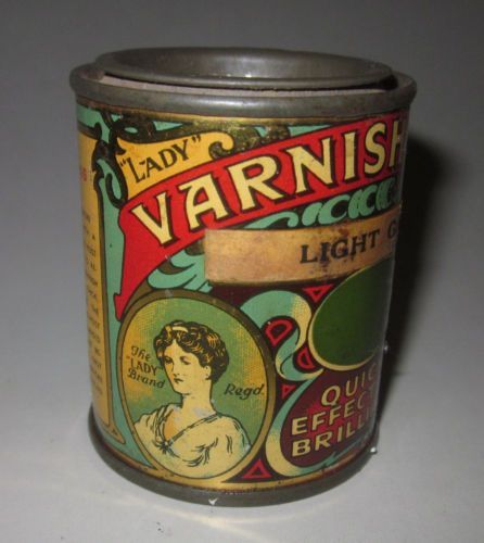 Lady brand Varnish tin