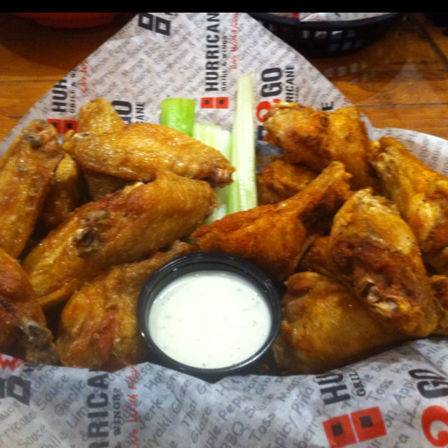 Garlic butter and Cajun dry rub wings at Hurricane Bar and Grill in Brownsburg