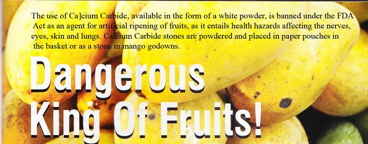 Mangoes and use of Calcium Carbide,