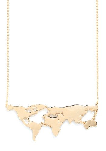 There's a Map for That Necklace in Gold. There are maps for displaying in your sophisticated study, maps for exploring new cities and scenery, and, now, theres even a map for wearing as a snazzy statement necklace! #goldNaN