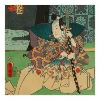 Japanese Art - Samurai Holding A Katana Sword Poster