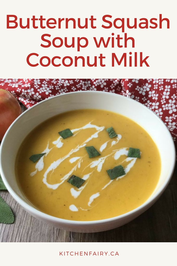 When you crave something warm and comforting try this golden-orange butternut squash soup made with butternut squash, apples and coconut milk.
