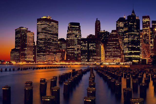 downtown manhattan newyork brooklyn bridge park dumbo night photography long exposure nikon d750