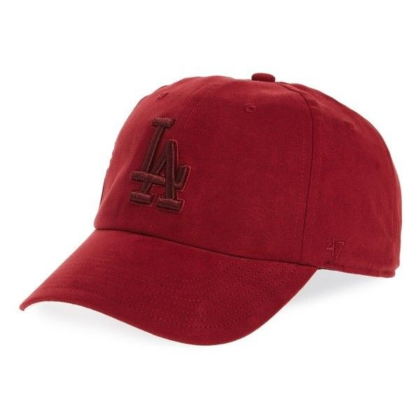 Women's '47 Brand Los Angeles Dodgers Baseball Cap (97 BRL) ❤ liked on Polyvore featuring accessories, hats, maroon, los angeles dodgers hat, baseball cap hats, dodgers baseball hat, maroon baseball cap and dodgers baseball cap
