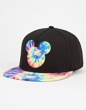 NEFF Disney Collection Tie Dye Mickey Mens Snapback Hat - That should be mine!