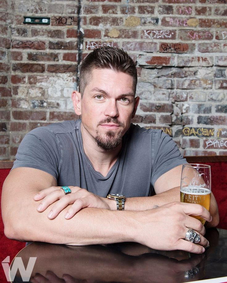 Cheers to the holidays.  (Steve Howey Photographed for TheWrap by @emmaeliza)