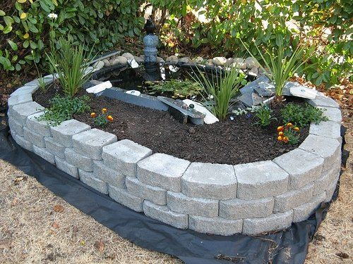 how to build a raised frog pond