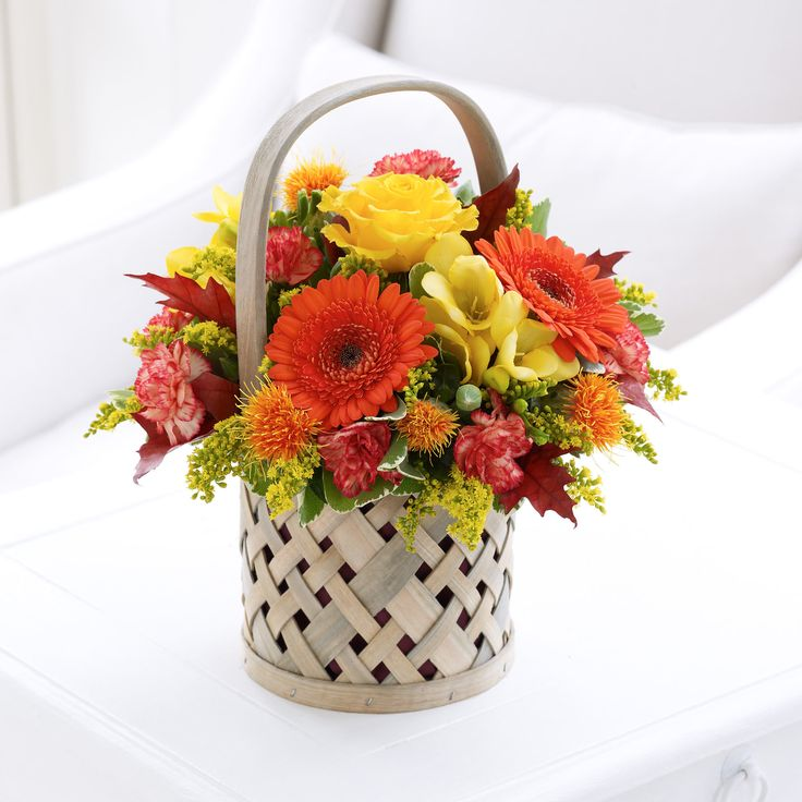 This chic Autumn Petite Basket makes a wonderful display for the home.