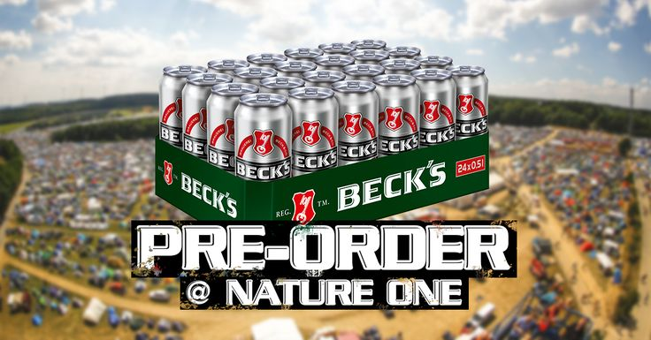 Keine Lust auf warmes Bier und jede Menge Schlepperei? Kein Problem mit der Beck's Pre-Order. 1. Online bestellen.  2. Kaltes Beck's direkt im CampingVillage abholen.  Einfacher geht's nicht. #Beautiful #Nature #Entertainment #Animal #Style #Tattoos #Funny #DIY