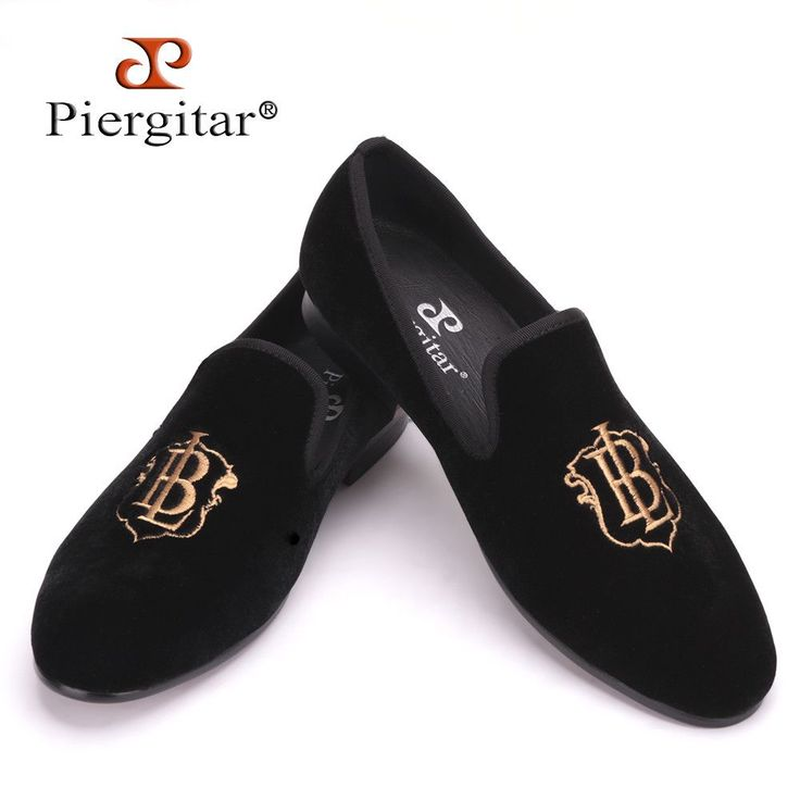 New style fashion men loafers gold embroidery handmade men velvet shoes party and wedding men's flat size US 4-17 freeshipping