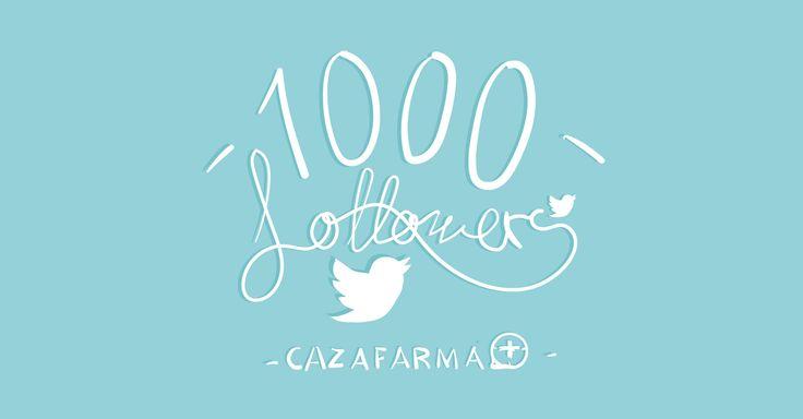 Cazafarma también está en Twitter... y ya somos ¡1000 SEGUIDORES! Si quieres estar al día de las últimas noticias del sector de la Farmacia y la Salud, ¡visita nuestro perfil https://twitter.com/cazafarma !
