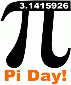Pi day scavenger hunt  (search within the number pi) - Where do six 9's appear in a row? Where is the first occurrence of the digits 123 in order? Where do 3 0's appear in a row?, etc. First group to finish the scavenger hunt gets to eat pie first.