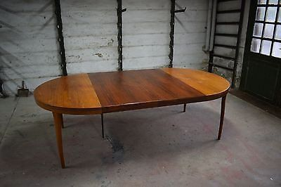 Danish mid century rosewood dining table, by Christian Linneberg