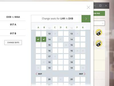Flight Seat Selection UI