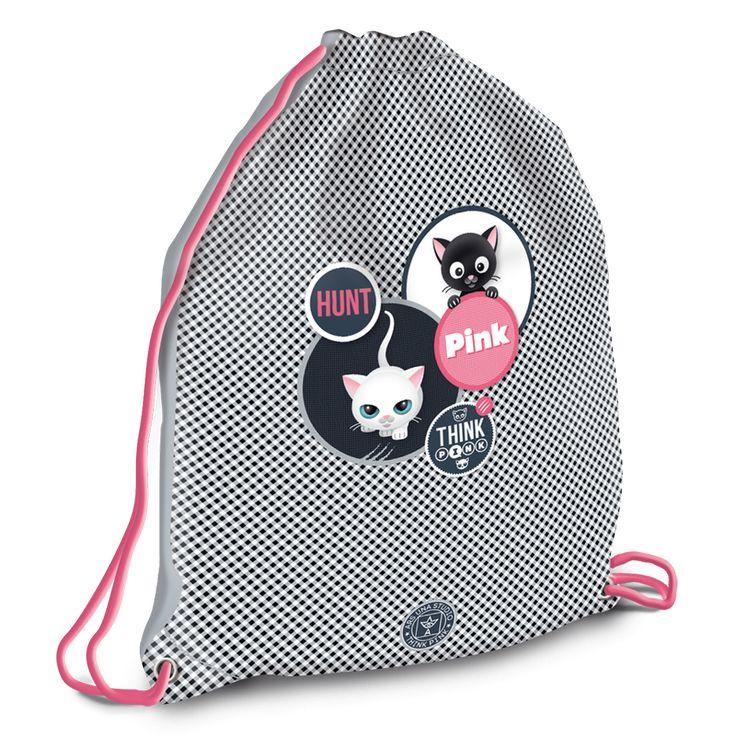 Ars Una Think-Pink cicás sportzsák alsós és felsős lányoknak