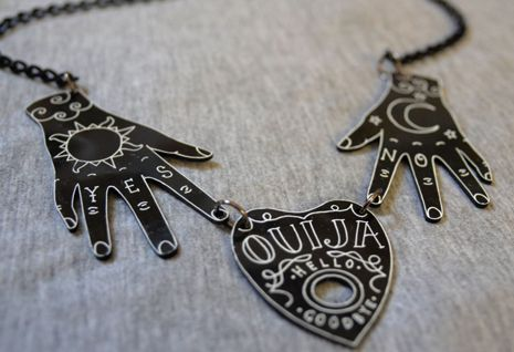 Ouija board necklace